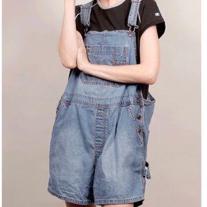 a6e5cfc22b Old Navy Shorts | 90s Vintage Oversized Jean Short Overalls | Poshmark